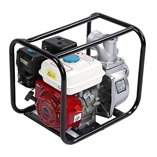 Gototo Wasserpumpe Benzinmotor, 6,5 PS, 13000 GPH, Gartenpumpe für Garten, Pool, Reinigungspumpe, 3 Zoll, Saughöhe 7 m
