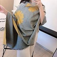Aapl 新しい冬のスカーフの女性厚く暖かいショールカラー両面カシミヤスカーフ (Color : 6)