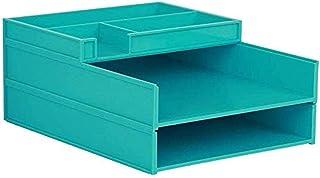MTYLX Cabinet de Fichiers/Rack, Armoire de Bureau de Bureau 2 Tiroirs 31.6 * 24.6 * 6Cm Cabinet de Stockage En Plastique A...