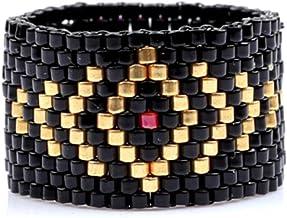 Kralen ring turkry boze oog nieuwe mode populaire accessoires geweven vrouw of man feestgeschenken gotische ring set