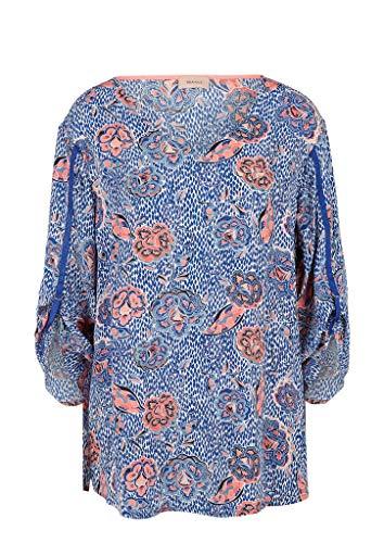 TRIANGLE Damen Crêpe-Bluse mit 3/4-Arm Blue AOP 52