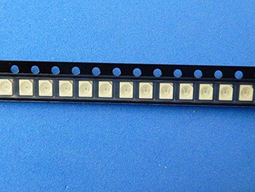 50 blaue SMD-TOP-LEDs PLCC4, PLCC 4, 312mcd, RoHS (elpohl) PLCC-4