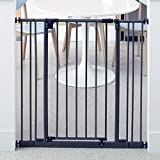 """Toddleroo by North States 38.5"""" Wide Extra Tall Easy Close Baby Gate: Sturdy Safety gate with one Hand Operation. Pressure Mount. Fits 28-38.5"""" Wide. (36' Tall, Bronze)"""
