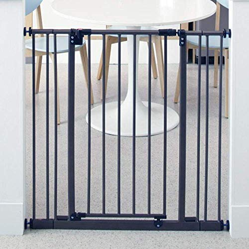"Toddleroo by North States 38.5"" Wide Extra Tall Easy Close Baby Gate: Sturdy Safety gate with one Hand Operation. Pressure Mount. Fits 28-38.5"" Wide. (36"" Tall, Bronze)"