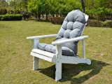 Enipate Weather Resistant Cushions for Adirondack Chair High Back Indoor Outdoor Patio Tufted Lounge Cushion Seat Pads
