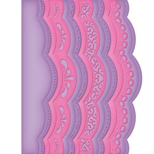 Spellbinders S5-182 Borderabilities A2 Scalloped Borders Die Template by Spellbinders Paper Arts, LLC