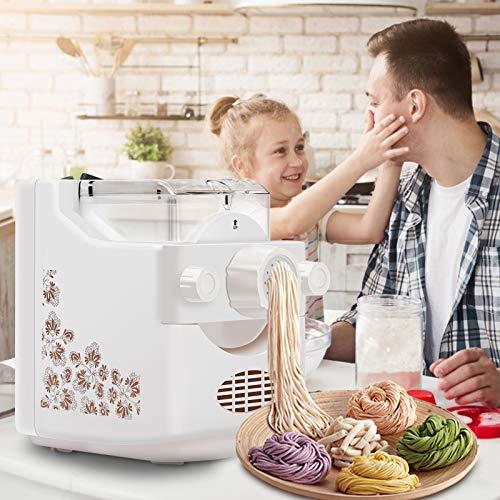 4YANG Automatische Nudelmaschine,Elektrische Pasta Maker ,Automatische Teigmaschine 1 Pfund Teig pro Zyklus, 9 + 3 Nudelformen, 180 W, Weiß