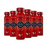 Old Spice Desodorante corporal Captain en spray | 6 unidades (6 x 150 ml) | Desodorante en spray sin aluminio para hombres | Desodorante para hombres con aroma duradero