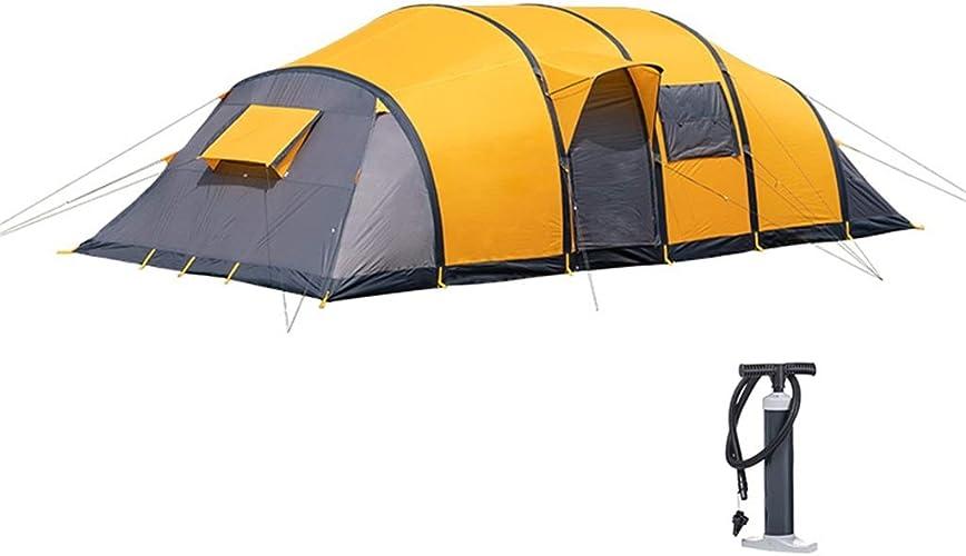 Pop up Tente Gonflable Tente, Tunnel De Plein Air Couche Double 8-10 Personnes Quatre Saisons Tissu De Polyester 730  315  210   165cm Tente de Plage