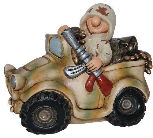 Commando Industries Lustige Spardose Auto Deko Soldat im Bundeswehr Jeep Flecktarn oder US Desert Camo Fun Division Neu&OVP (US Desert Camo)