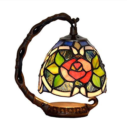 Hsmgtd Lampada da Tavolo Lampade da Tavolo in Vetro colorato for Soggiorno Scrivania Antica Accanto al Comodino della Camera da Letto