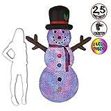 La Vida en Led Snowman - Muñeco de Nieve 2,5 Metros...