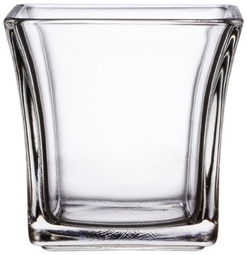 Anchor Hocking 99005 4-Inch Flared Square Votive Candle Holder, Pack of 6
