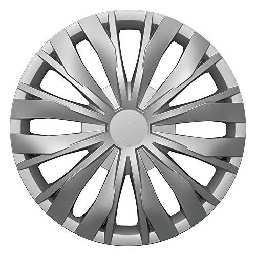 CM DESIGN Optic Silber - 14 Zoll, passend für Fast alle Mercedes Benz z.B. für S-Klasse W140 / C140 Coupe