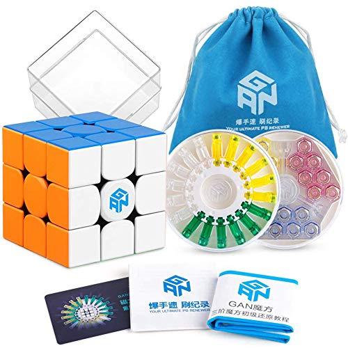 Metermall Home voor GAN 356 X Speed Cube 3x3 Stickerloze voor GANs 356X Magnetische puzzel Cube voor GAN356 X 3x3x3 M Magische kubus