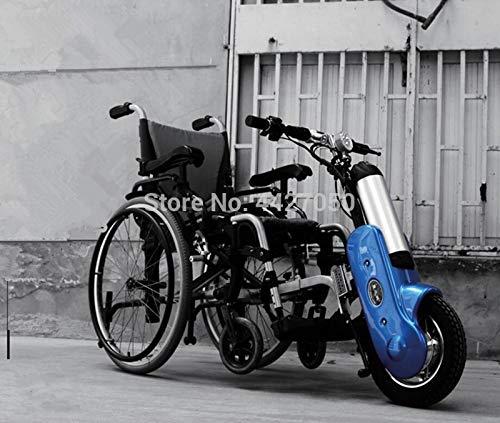 YIONGA CAIJINJIN Electric Rollstuhl Freier Verschiffen Elektrischer Booster Elektromotor für Hand Push/Sport Rollstuhl Anhänger Kopf Elektrische Handrad (Color : Blue)