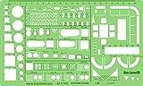 Architektonische Maßstab 1: 50Schablone–Architekt Technische Ausarbeitung Supplies–Möbel Symbole für Haus