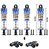 HAIBOXING RC Cars Upgraded Parts Front&Rear Aluminum Capped Oil Filled Shocks Apply to 2020 New Version 18858&18859 RC Cars