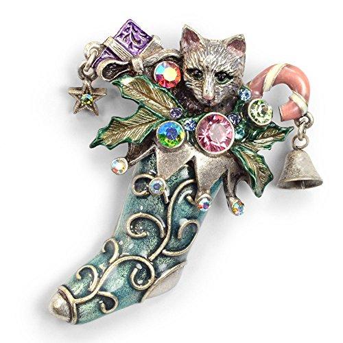 Christmas Cat Pin
