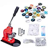 Seeutek Button Maker Button Maker Machine Button Badge Maker 2-1/4 inch 58mm with 1100 Pcs Button Parts and 2-1/4 inch 58mm Circle Cutter