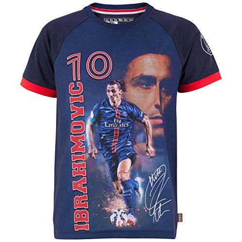 Trikot PSG–Zlatan Ibrahimovic–Offizielle Kollektion PARIS SAINT GERMAIN–Kindergröße Jungen für 4-Jährige blau