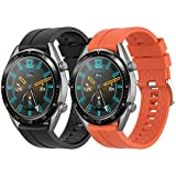 Supore Cinturino Compatibile con Huawei Watch GT2 46mm/Watch GT 46mm/Watch GT Active/Watch 2 PRO/Honor Watch Magic/Galaxy Watch 46mm/Gear S3/Gear 2, Cinturino di Ricambio in Silicone da 22 mm
