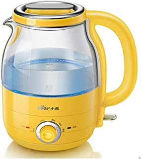 LJBH Electric Kettle, Stainless Steel Kettle, 1200W, 1.2L Fast Boiling Water Heater, Automatic Shut Off Protection/Yellow ...