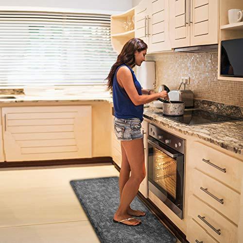 KMAT Kitchen Mat Cushioned Anti-Fatigue Floor Mat Waterproof Non-Slip Standing Mat Ergonomic Comfort Floor Mat Rug for Home,Office,Sink,Laundry,Desk 20