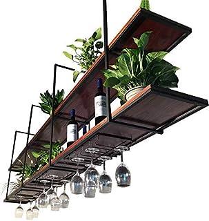 Sysyrqcer Stand de Fleurs Vintage Bois Massif grilles de Fleur de Plafond Suspendu Rangement ménage Rangement Organisateur...