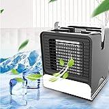 Portatil Cooler, Aires Acondicionados Móviles Climatizador Evaporativo, 3-en-1 Aire Acondicionado Mini Ventilador Humidificador Purificador De Aire, Leakproof, New Filter Paper (Negro)