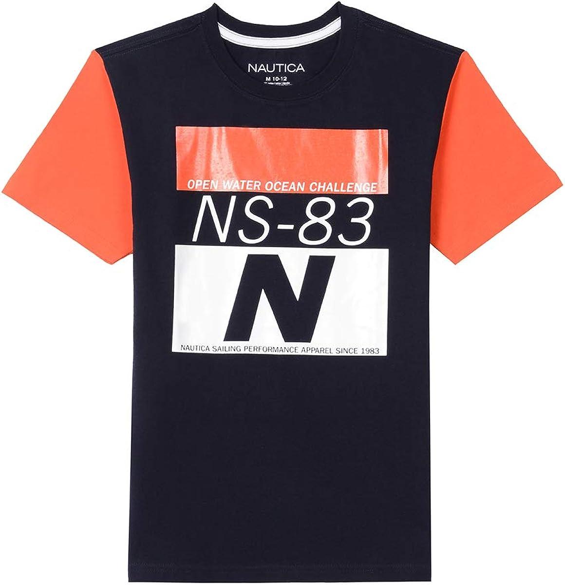 Nautica Boys Short Sleeve Heritage Tee Shirt