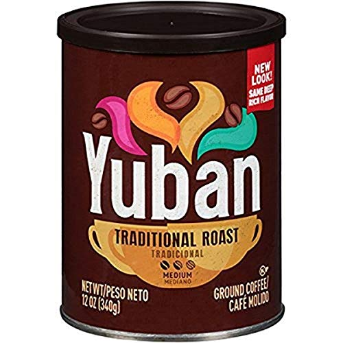 Yuban Traditional Roast Medium Roast Ground Coffee (6 ct Pack, 12 oz Canisters)