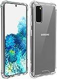Temdan Designed for Samsung Galaxy S20 Case Premium Clear Soft TPU + Hard PC Ultra-Thin Anti-Sc…
