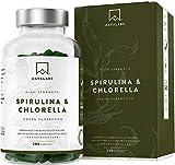 Integratore di Spirulina Clorella Bio in Capsule[1800 mg] di AAVALABS - Alga Spirulina Compresse 200 - Miscela di Alghe Naturali di Alta Qualità con Fitonutrienti - Perfetto per Frullati - Vegano