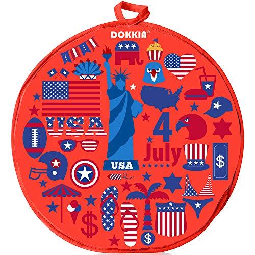 DOKKIA Tortilla-Wärmer 30,5 cm isolierter Stoffbeutel – verwenden Sie Stoffbeutel, um Lebensmittel bis zu einer St&e warm zu halten (30,5 cm, amerikanische Flagge, patriotische Adlerstatue)