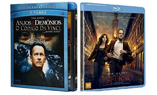 Coleção Código Da Vinci + Anjos e Demônios + Inferno Blu-ray (3 discos)