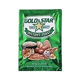 Gold Star Levadura para hacer pan, levadura seca instantánea, levadura para hacer pan, 48 x 10 g