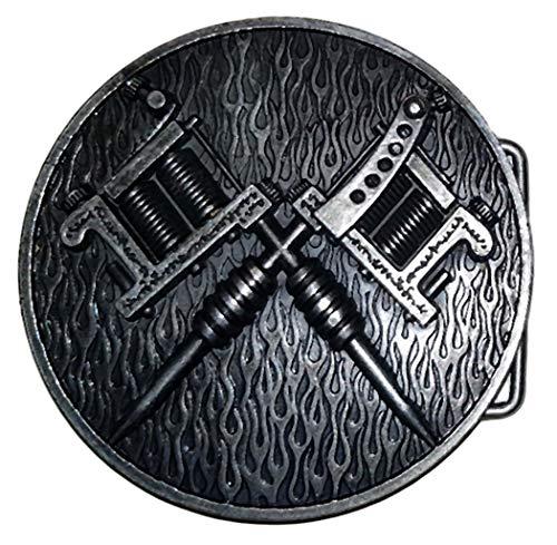 Hebillas 3D de calavera con cruz y hebilla para cinturón para moteros, roc...