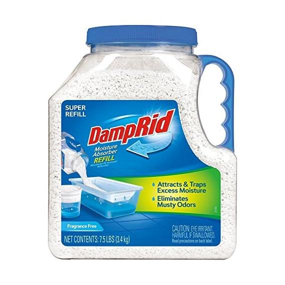 DampRid FG37 Moisture Absorber Refill, 7.5 lb, Fragrance Free 2-Pack 2