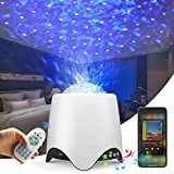Night Light Star Projector Bedroom - for Kids Galaxy Nebula Globe Sky Ocean Wave White Noise for Bedroom Aesthetic Lamps Starry Planetarium Ceiling Lights Party Brithday Gifts