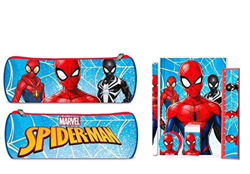 Trousse Spiderman + Set de Papeterie Spiderman