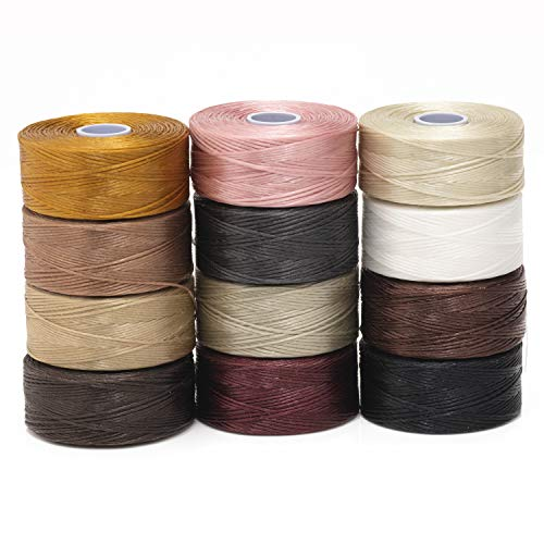 Beadsmith S-Lon Beadworking Cord Multipack with 12 Spools (Mix 1)