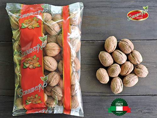 Noci in guscio ITALIANE - di Sorrento - offerta SPECIALE 2x500g - Prodotto naturale CALIBRO 30 - Prodotto del territorio - Made in italy - SORRENTINO Fruttaseccaesalute
