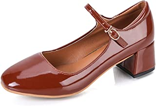 [SENNIAN] パンプス レディース シューズ パンプス 太ヒール ミドルヒール スクエアトゥ チャンキーヒール 歩きやすい 安定感がある 定番 ソフト エレガント ファッション ロリータ 通勤 通学 可愛い靴 黒