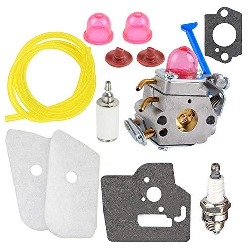 CIVIKY Kit de carburador Duradero para Husqvarna 124L 125L 125LD 128C 128CD 128L Trimmer 545081848 Herramienta de Equipo eléctrico para Exteriores-PC 1