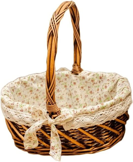 Wicker Picnic Basket Hand Carry Print Mail order cheap Floral with Cheap SALE Start Hamper
