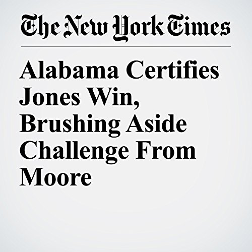 Alabama Certifies Jones Win, Brushing Aside Challenge From Moore copertina