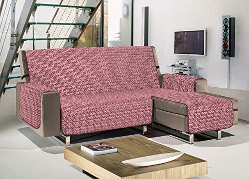 Biancheriaweb - Funda para sofá Penisola acolchada antimanchas impermeable modelo Olimpo burdeos