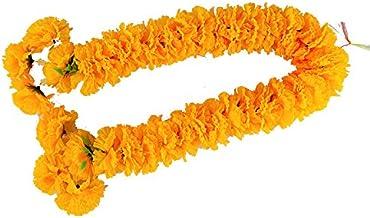 wonderflowers Artificial Big Size Yellow Marigold Garland 70 cm. for Make A Wish