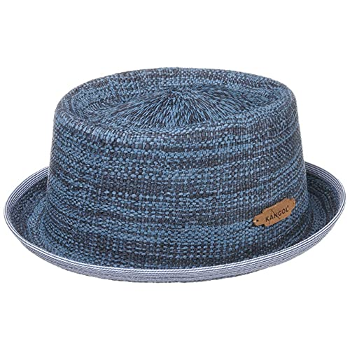 Kangol Cappello di Paglia Wicker Pork Pie da Sole Estivo S (54-55 cm) - Blu